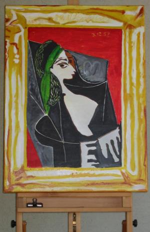 Frau mit Kopftuch - von Pablo Picasso